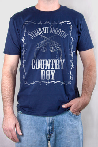 Navy - Men's Straight Shootin' Short Sleeve Tee