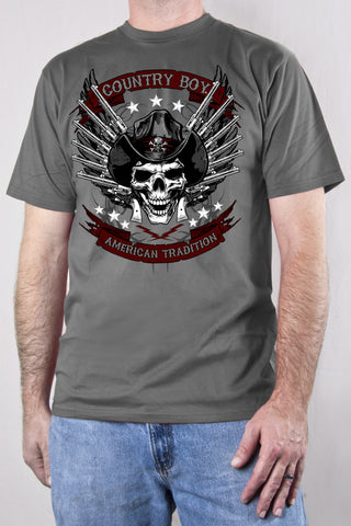 Smoke - Men's Skull Pistols Short Sleeve Tee