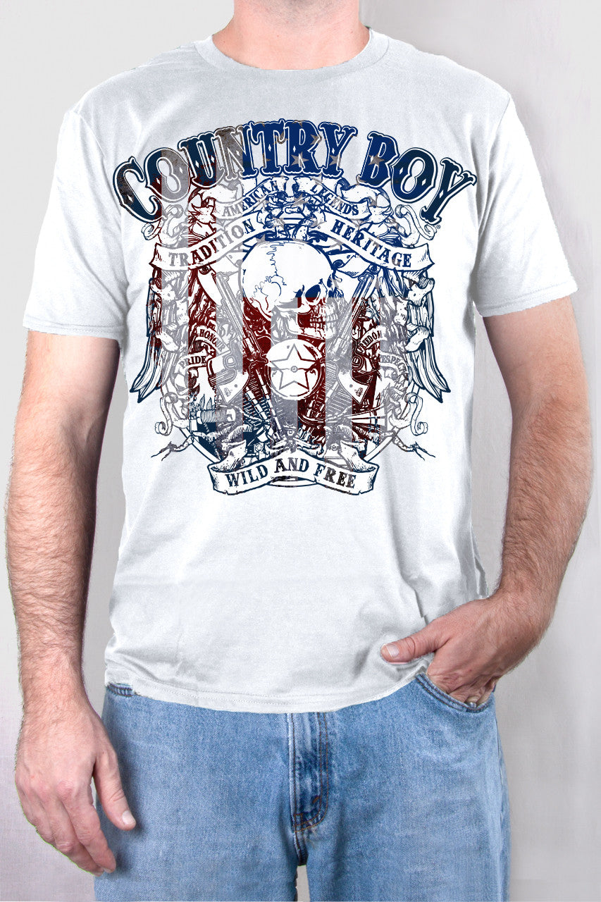 White - Men's Wild and Free Short Sleeve Tee