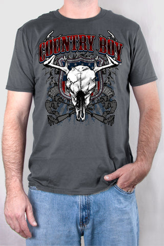 Smoke - Men's Deer Skull Short Sleeve Tee