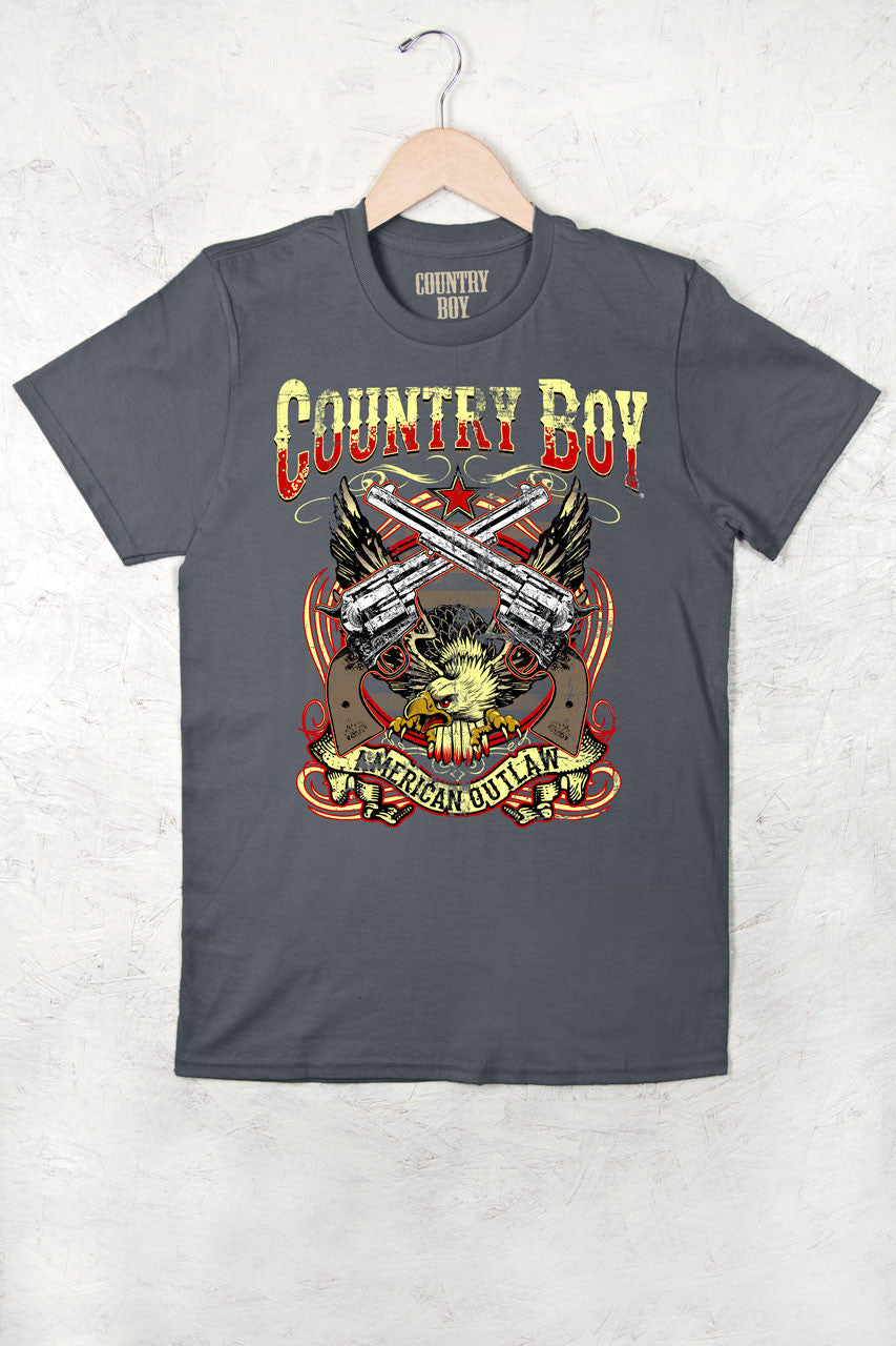 Smoke - Men's American Outlaw Short Sleeve Tee