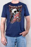 Navy - Men's Flag Skull Short Sleeve Tee