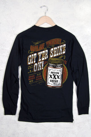 Black - Men's Git Yer Shine On Long Sleeve Tee