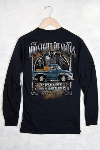 Black - Men's Midnight Runners Long Sleeve Tee