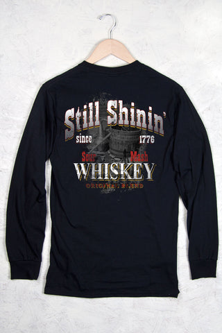Black - Men's Still Shinin Long Sleeve Tee