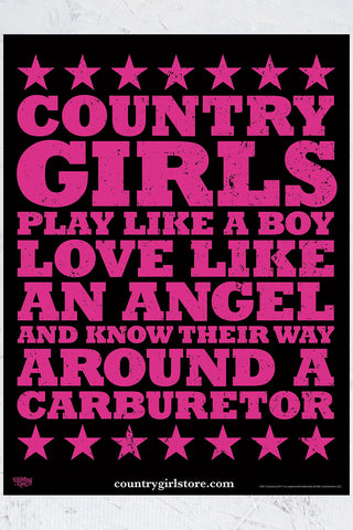 "Country Girl® - Carburetor 18"" x 24"" Poster"