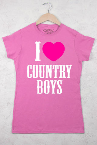 Azalea - Juniors I Heart Country Boys ™ Crew Neck Tee
