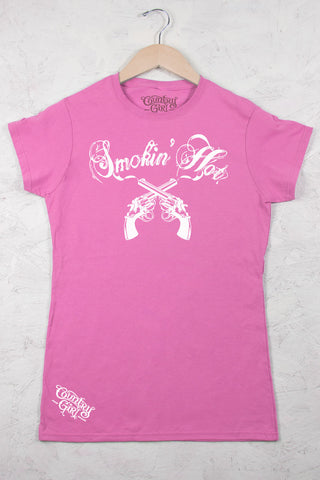 Azalea - Juniors Smokin Hot Crew Neck Tee