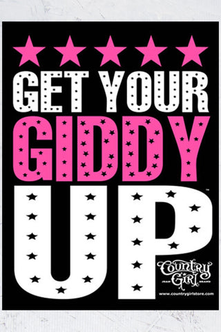 "Country Girl® - Get Your Giddy Up 18"" x 24"" Poster"