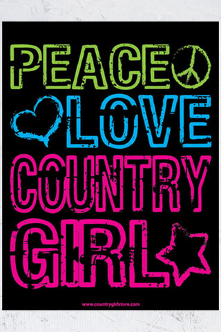 "Country Girl® - Peace Love 18"" x 24"" Poster"