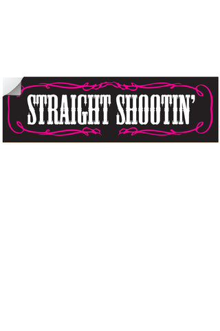 "Country Girl® - Straight Shootin' 10"" x 3"" Bumper Sticker"