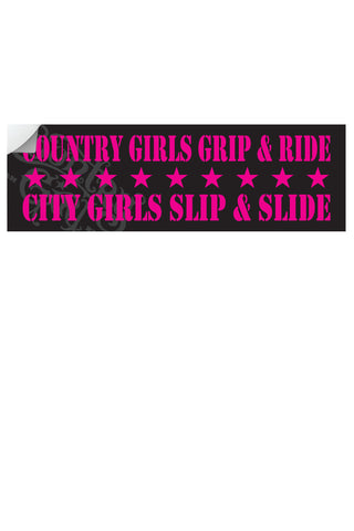 "Country Girl® - Grip & Ride 10"" x 3"" Bumper Sticker"