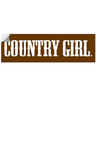 "Country Girl® - Logo 10"" x 3"" Bumper Sticker"