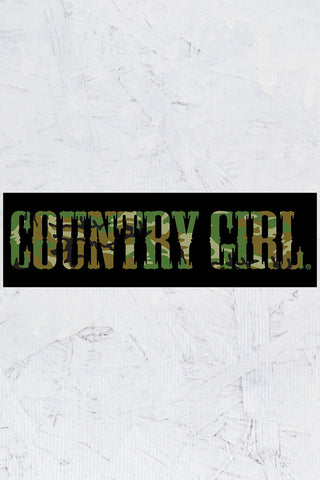 "Country Girl® - Camo Logo 10"" x 3"" Bumper Sticker"