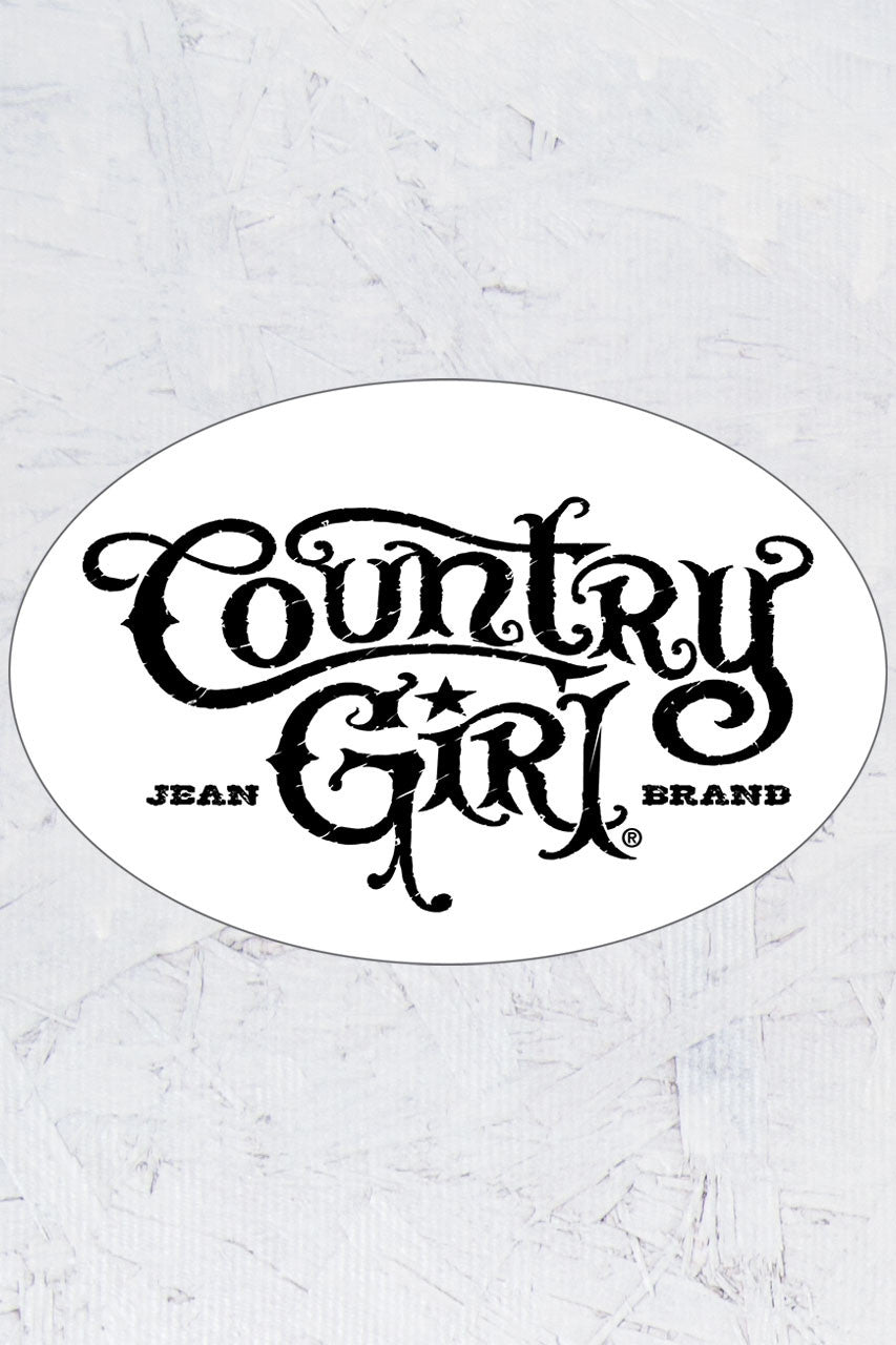 "Country Girl® - Logo 6"" x 4"" Oval Bumper Sticker"