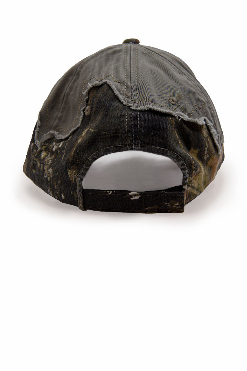 Country Girl® - Women's CG Logo Frayed Mossy Oak® Cap
