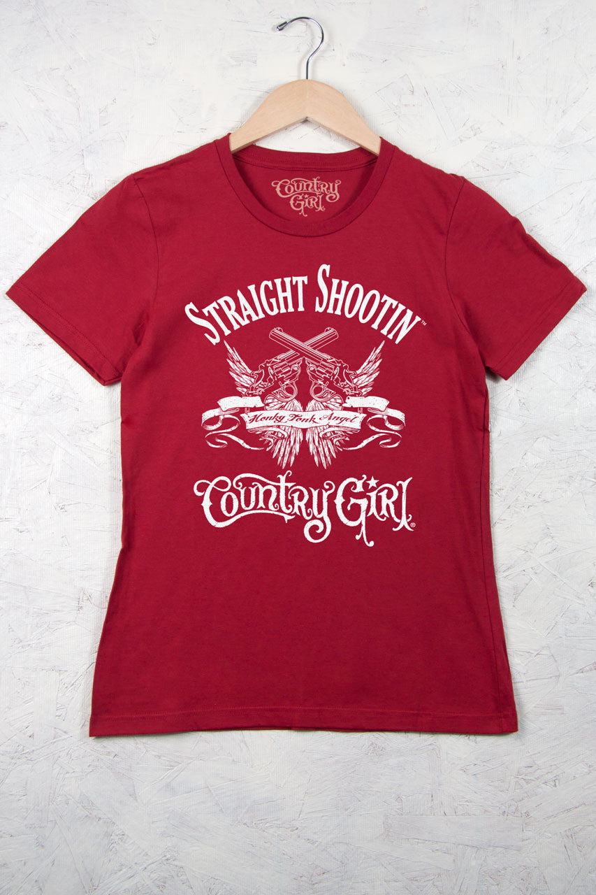 Independence Red - Women's Straight Shootin' Short Sleeve Tee