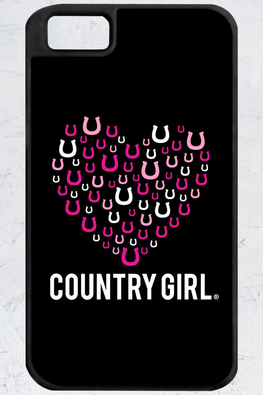 Country Girl® - Horseshoe Heart iPhone 4/4s Case