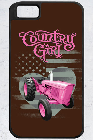 Country Girl® - Pink Tractor iPhone 4/4s Case