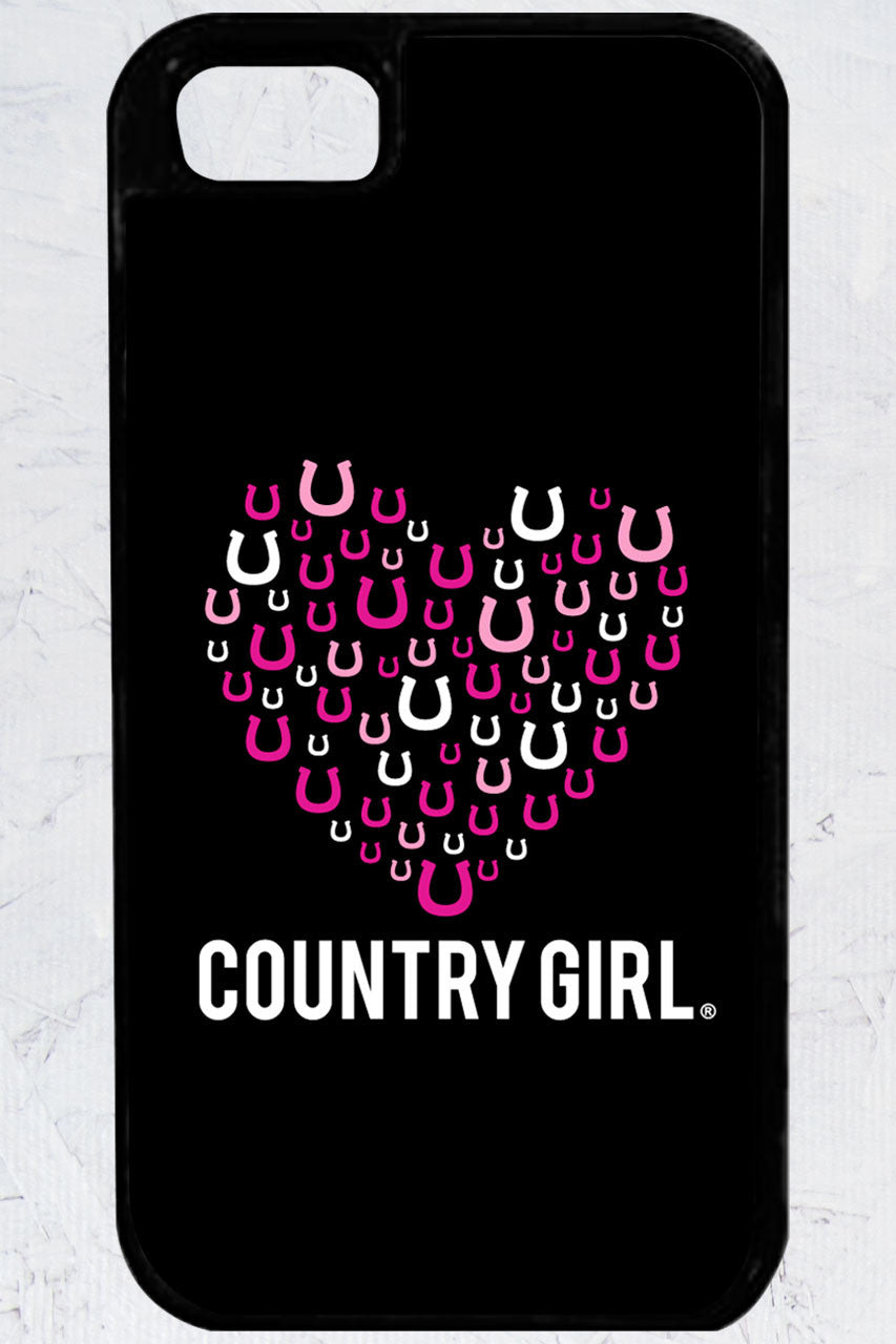 Country Girl® - Horseshoe Heart iPhone 5/5s Case