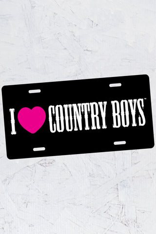 I Heart Country Boys™™ License Plate