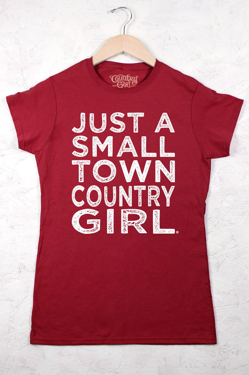 Red - Juniors Small Town CG Short Sleeve Tee