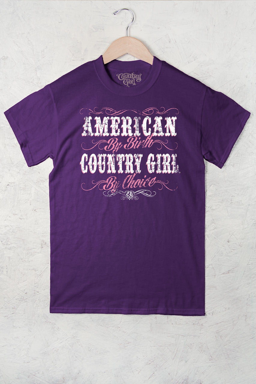 Purple - Women's American By Birth Full Figure Short Sleeve Tee