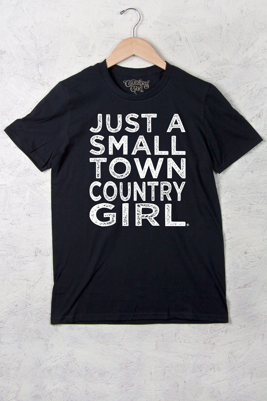Black - Women's Small Town Full Figure Short Sleeve Tee