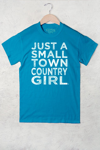 Caribbean Blue - Women's Small Town Full Figure Short Sleeve Tee