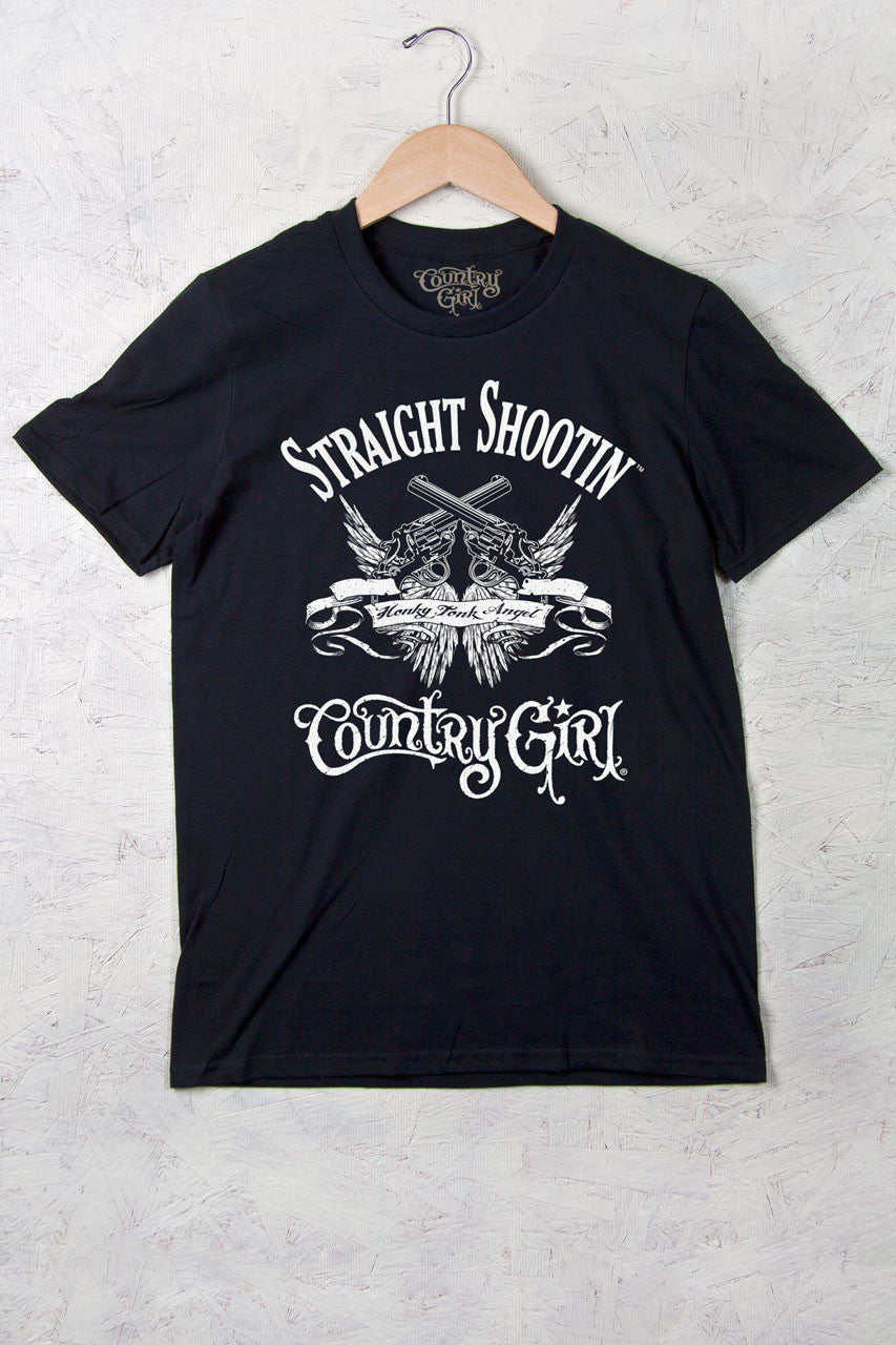 Black - Women's Straight Shootin' Full Figure Short Sleeve Tee