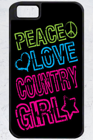 Country Girl® - Peace, Love iPhone 4/4s Case