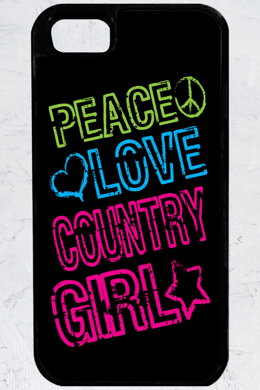 Country Girl® - Peace, Love iPhone 5/5s Case