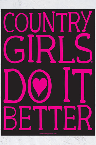 "Country Girl® - Do It Better 18"" x 24"" Poster"