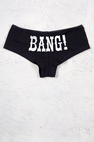 Black - Juniors Bang! Boyshort Panty