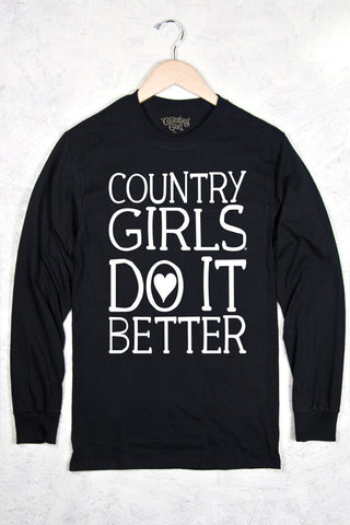 Black - Women's Do It Better Long Sleeve Tee
