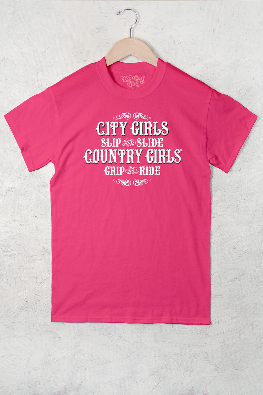 Hot Pink - Women's Grip and Ride Full Figure Short Sleeve Tee