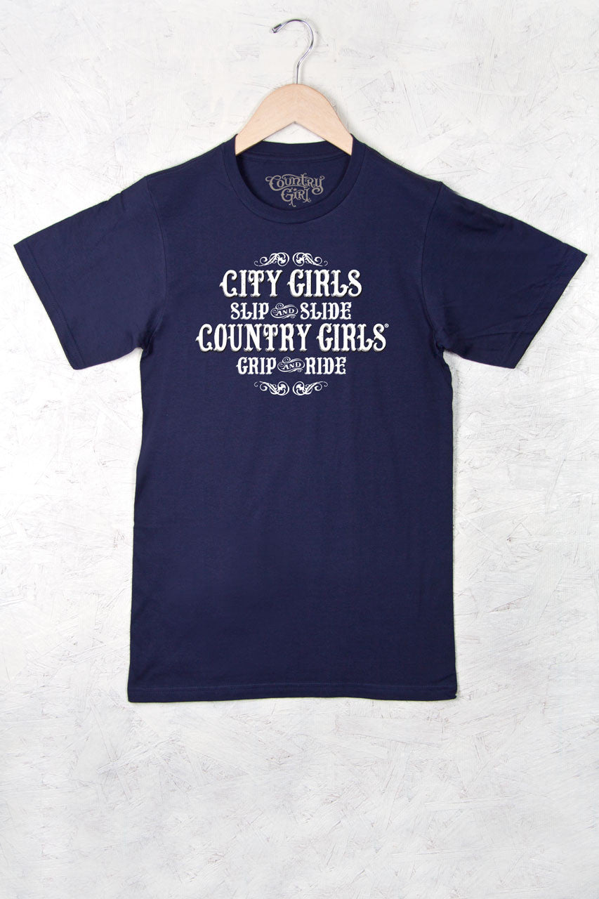 Navy - Women's Grip and Ride Full Figure Short Sleeve Tee