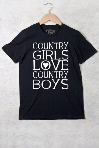 Black - Women's Heart Country Boys™™ Full Figure Short Sleeve Tee