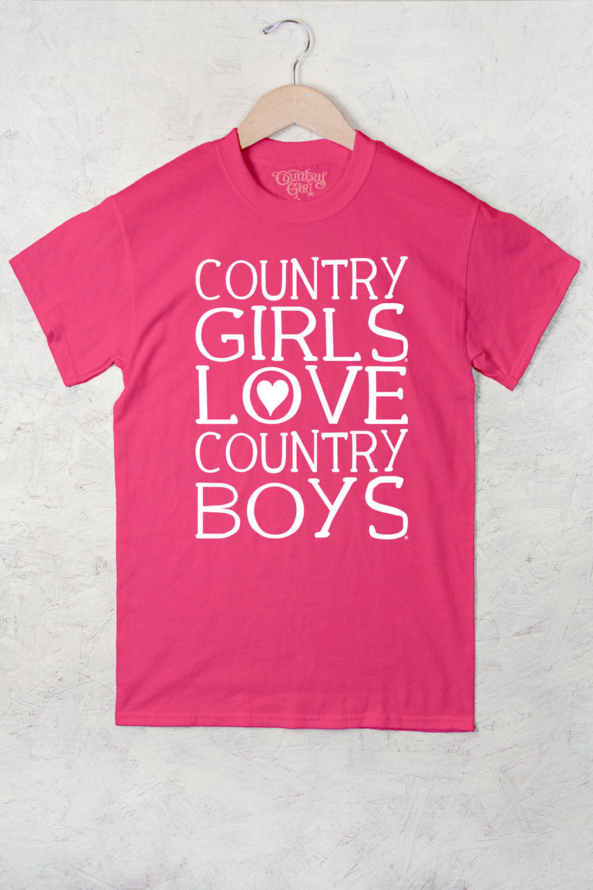 Hot Pink - Women's Heart Country Boys™™ Full Figure Short Sleeve Tee