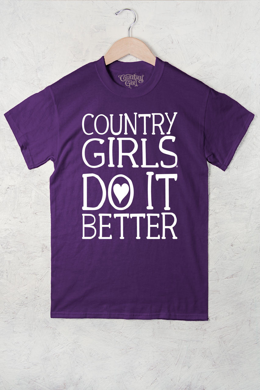Purple - Women's Do It Better Full Figure Short Sleeve Tee