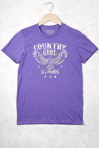 Heather Purple - Women's Strong Full Figure Short Sleeve Tee