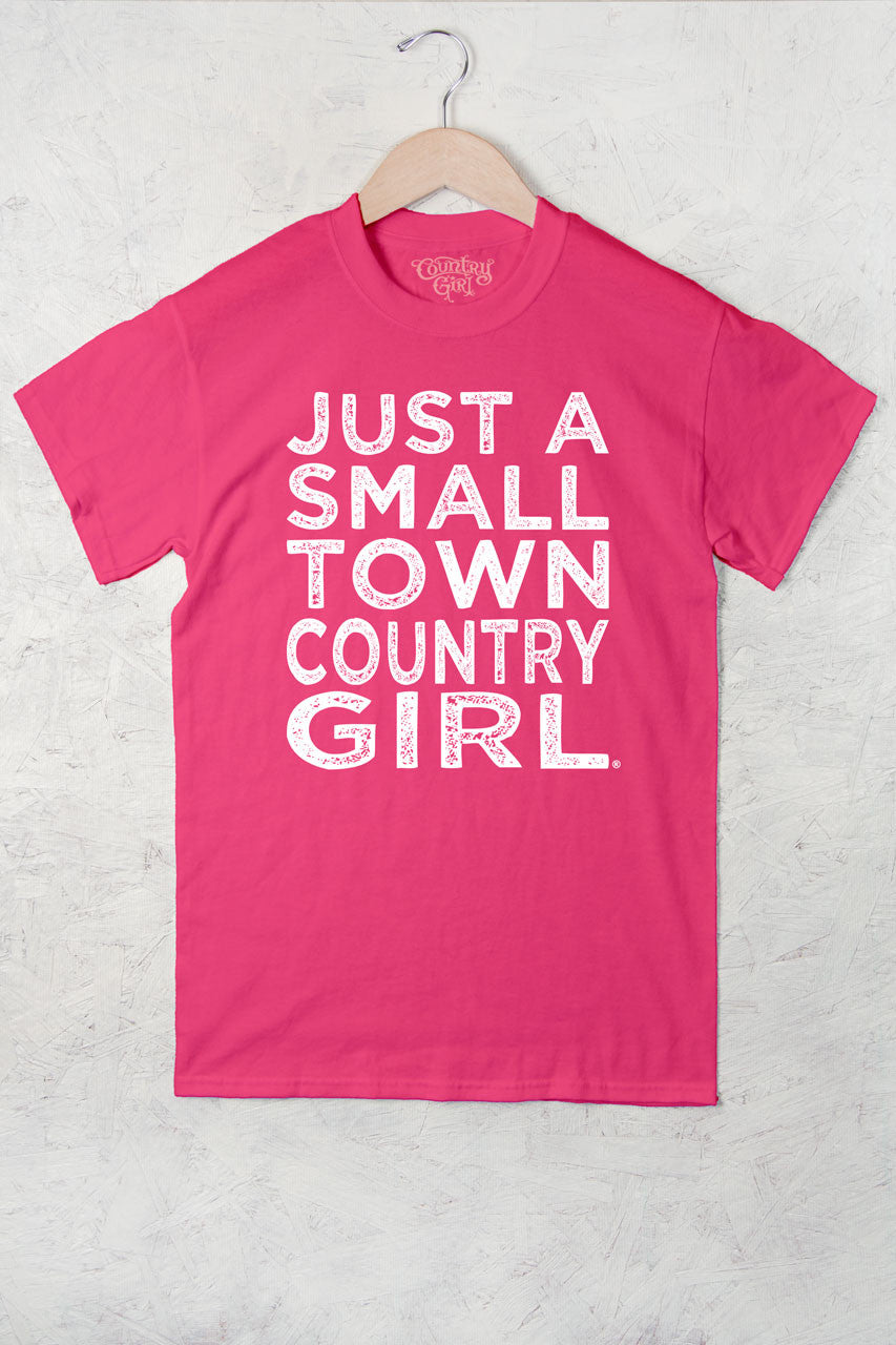 Hot Pink - Women's Small Town Full Figure Short Sleeve Tee