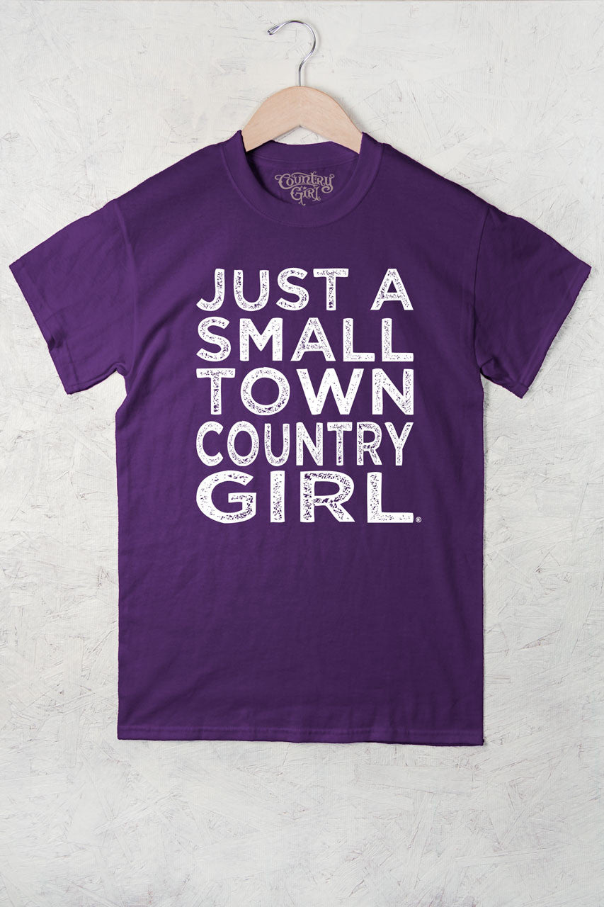 Purple - Women's Small Town Full Figure Short Sleeve Tee