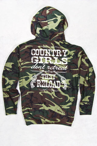 Green Camo - Women's Reload Relaxed Camo Pullover Hoodie