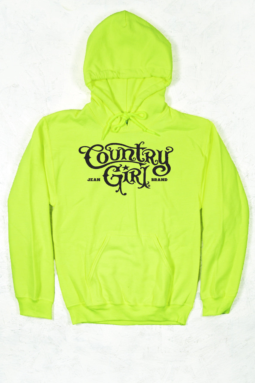 Safety Green - Women's CG Logo Relaxed Pullover Hoodie