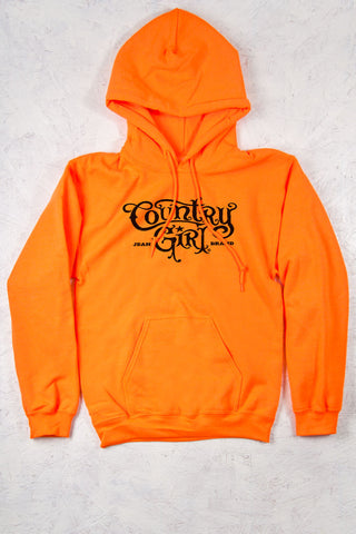 Safety Orange - Women's CG Logo Relaxed Pullover Hoodie