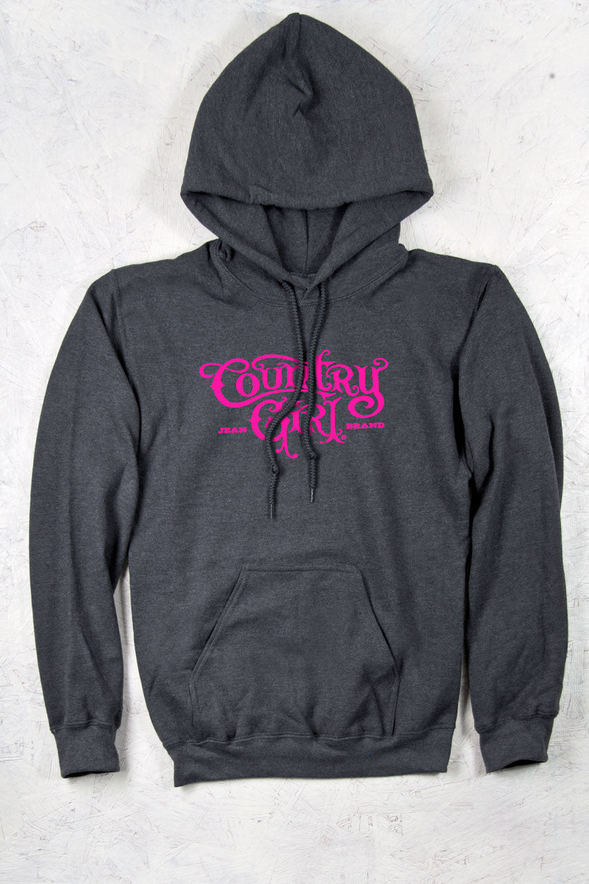 Dark Heather - Women's CG Logo Relaxed Pullover Hoodie
