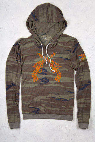 Green Camo - Junior's Six-Shooters Camo Hoodie