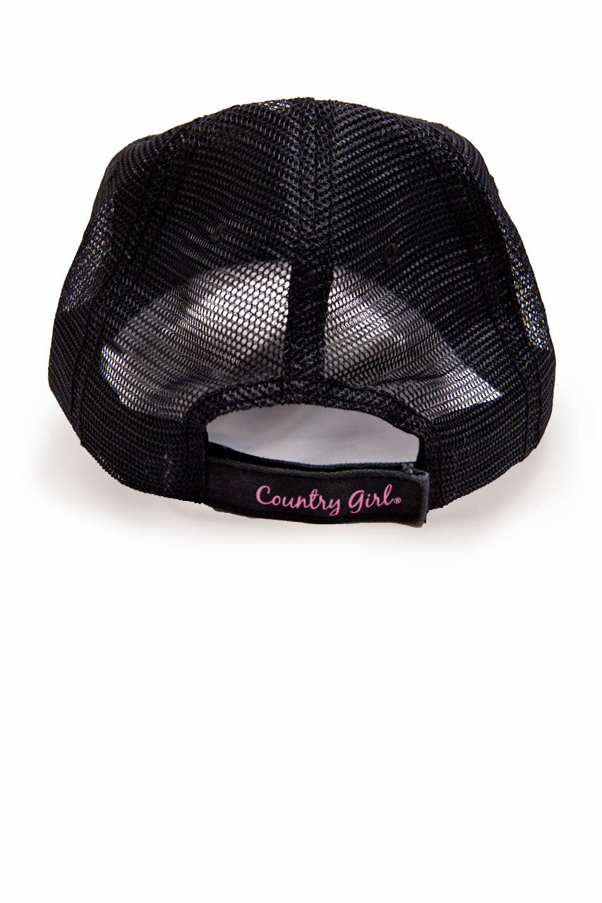 Country Girl® - Women's Deer Head Pink Camo Trucker Hat