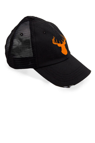 Women's Deer Head Orange Trucker Hat